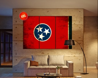 tennessee state flag  canvas tennessee state flag wall decoration tennessee state flag canvas art tennessee state flag large canvas