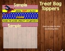 SPIDERMAN treat bag toppers- Digital File
