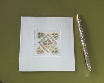 Special occasion greeting card, for weddings, special birthdays, sympathy, etc. Hardanger decoration, blank inside for your personal message