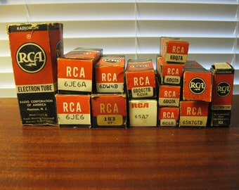 TV and Radio Tubes RCA Vacuum Tubes Electron Tubes