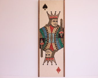 Mid-Century Modern Collage Of The King Of Spades And Diamonds.