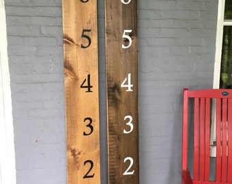 Hand painted wooden Height chart rulers.. Hand Crafted in the USA
