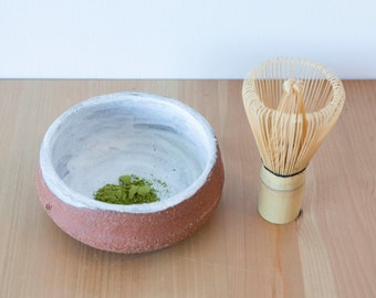 Handmade Terra Cotta clay, Matcha Bowl