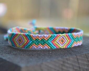 Friendship bracelets. Handmade bracelets. Colourful bracelets. Stylish accessories.