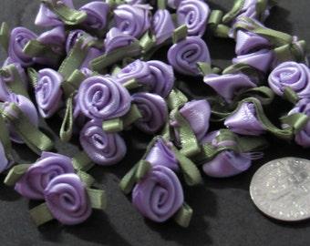 40 Mini Satin Roses