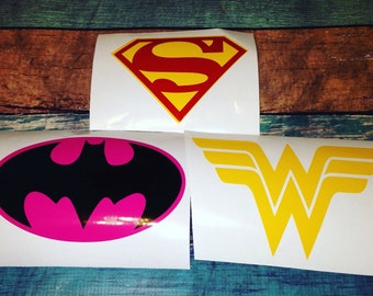 Super Hero decals (1 sticker total)