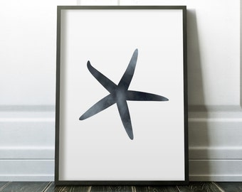 Starfish Art, Starfish Print, Starfish Decor, Star Fish Decor, Art Beach, Summer Print, Beach Prints, Ocean Decor, Ocean Animals, Sea Animal