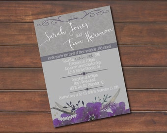 Simple Wedding Invitation with response card