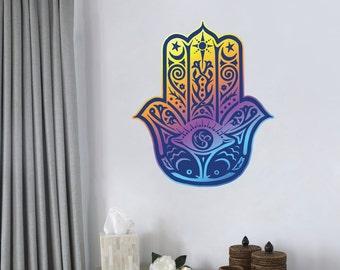 Hamsa Hand Color Wall Decal