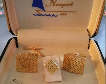 Lord Newport Cufflink and Tie Tack Set