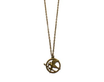 Mockingjay Necklace/Keychain/Literary Necklace/Keyholder/Bookmark/Bag Charm/Bracelet