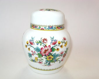 Coalport MING ROSE Ginger Jar w/ Lid - Fine Bone China England