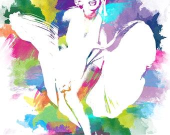 "Marilyn Monroe  14""x18""   Stretched Canvas Wall Art  "
