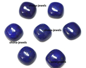 Top quality lot of 15 pic.Blue Lapis Lazuli Cushion cabochon loose gemstone with free shipping