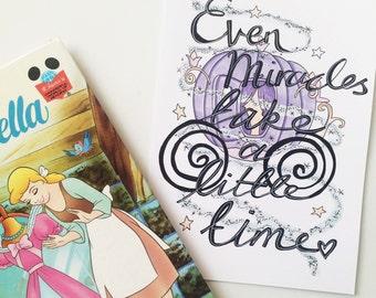 Cinderella A5 print