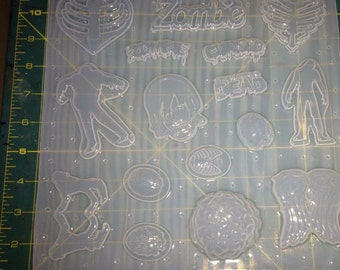 Zombie Palette - Plastic Resin Mold