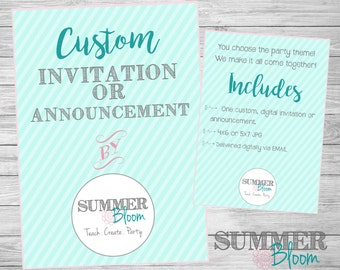 Customized Announcement or Invitation