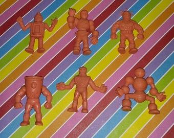 Vintage Group of 6 1980s Mattel Muscles Figures (Lot # 1)