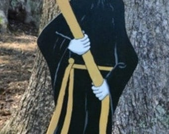 Halloween decorations Mr. Death lawn stake yard stake lawn art yard art halloween decorations