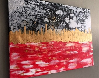 Abstract Painting on Canvas - Great for House Warming Gift