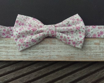 Men's Liberty Pink Floral Bow Tie