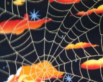 Boy's Halloween Apron with clouds and spiderwebs