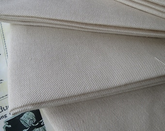 Fat Quarter Hand Woven Scottish Linen Twill Embroidery Fabric- Crewel Work-Upholstery