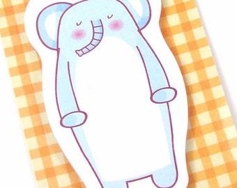 1 memo pad sticky notes blue elephant