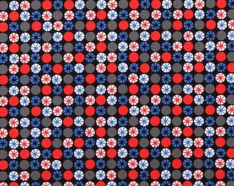 Atomic Orbs Fabric - Blue - by Michael Miller Fabrics