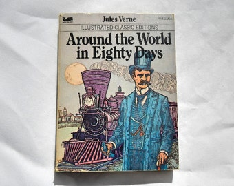 Around the World in Eighty Days by Jules Verne Vintage 1977 Paperback Book