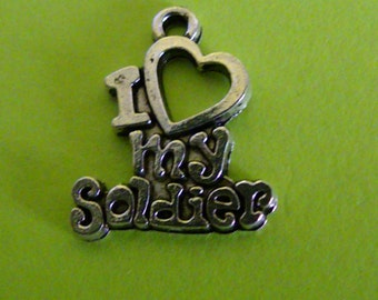I Heart (Love) My Soldier Charm