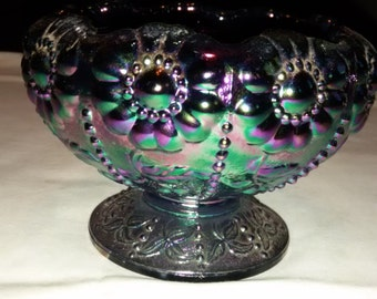 Vintage Fenton Carnival Glass Candy Dish