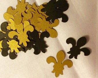 Fleur de Lis Confetti, New Orleans Saints Confetti, Black and Gold Confetti, New Orleans Confetti, Saints Football Confetti, Wedding Decor