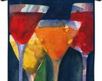 "4 Mixed Drinks - 34""x34"" Tapestry Wall Hanging"