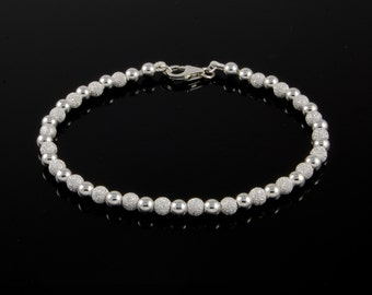 Sterling Silver Ball Bracelet - Sterling Silver Bead Bracelet