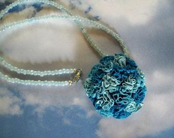 Pendant Necklace, Handmade Pendant, Handmade Necklace, Clay Pendant Necklace, Flower Necklace, Polymer Clay Pendant, Bead Necklace, Pendant