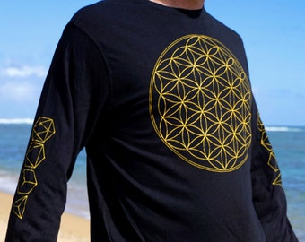 Flower of Life Long Sleeve Bamboo
