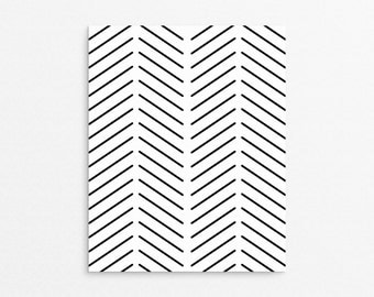 Herringbone Art | Minimalist Art | Modern Print | Wall Decor | Poster Art | Minimalist Wall Print | Printable Art | Wall Prints | Home Decor