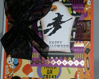 Unique handcrafted Halloween card