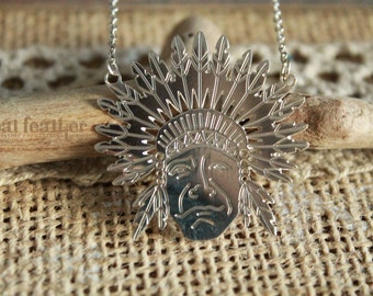 Native American Silver 925 necklace