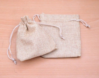 10pcs Drawstring Pouch natural Hemp drawstring Bag Wedding gift bag linen Packaging Bags Jewelry Party Recycle Bags