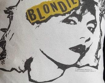 BLONDIE debbie harry t shirt CUSHION punk new wave