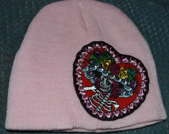 Day of the Dead baby hat