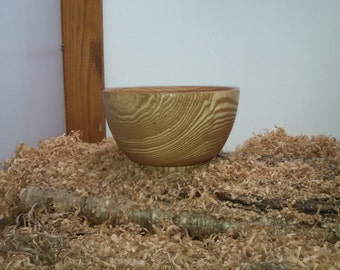 Hand crafted ash endgrain bowl with food safe finish.