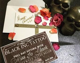 Half a day tattoo sitting with miss jo black.