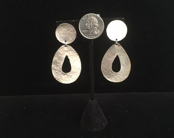 Large Sterling Silver Statement Earrings