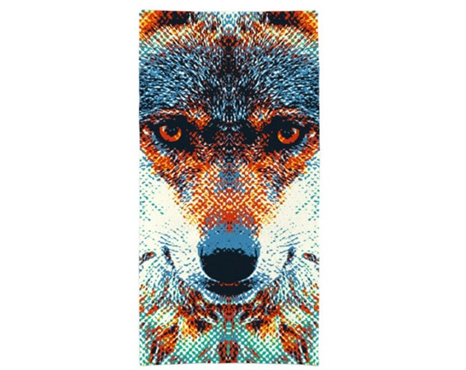 Wolf Towel - Colorful Animals