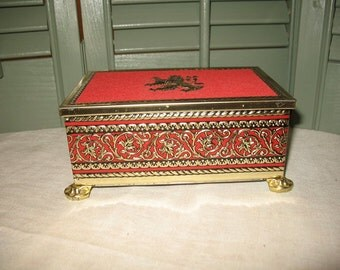 Box of confectionery Harry Vincent L.t.d. Huntington Worcestershire England lion rampant symbol embossed.