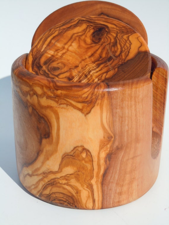Cool Gift For Dadolive Wood Coasters Set Amazing Grain And