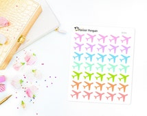 Item #094 Airplane Travel Stickers For Erin Condren Life Planner, EC Horizontal, Happy planner or any other Planner.